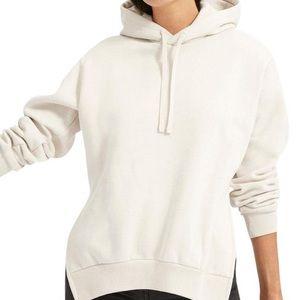 everlane oversized side cut fleece hoodie